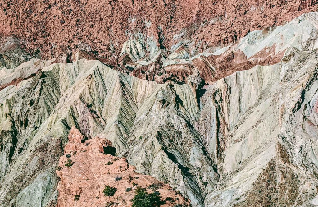 Upheaval dome from the ground